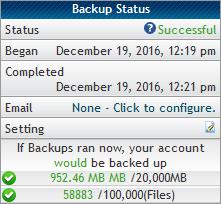 Varnostne kopije - status